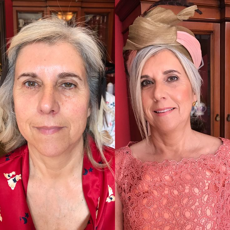 Antes y depues@maquillaje piel madura