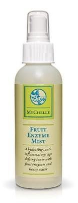 Fruit Enzyme Mist - 130 ml - Liquid by MyChelle. $27.53. Fruit Enzyme Mist by MyChelle 130 ml Liquid A hydrating anti-inflammatory age defying toner For All Skin Types An instant hydrating anti-inflammatory age defying toner with fruit enzymes powerful antioxidants and heavy water. D-beta glucosamine from Chinese Foxglove supports the skins hyaluronic acid production and keeps the skin in tighter alignment with one another. Perfect under nourishing creams and a must ...