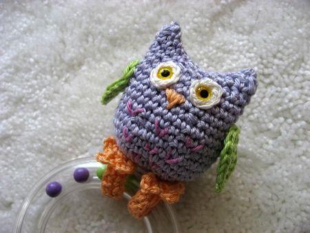Crochet baby toys - owl