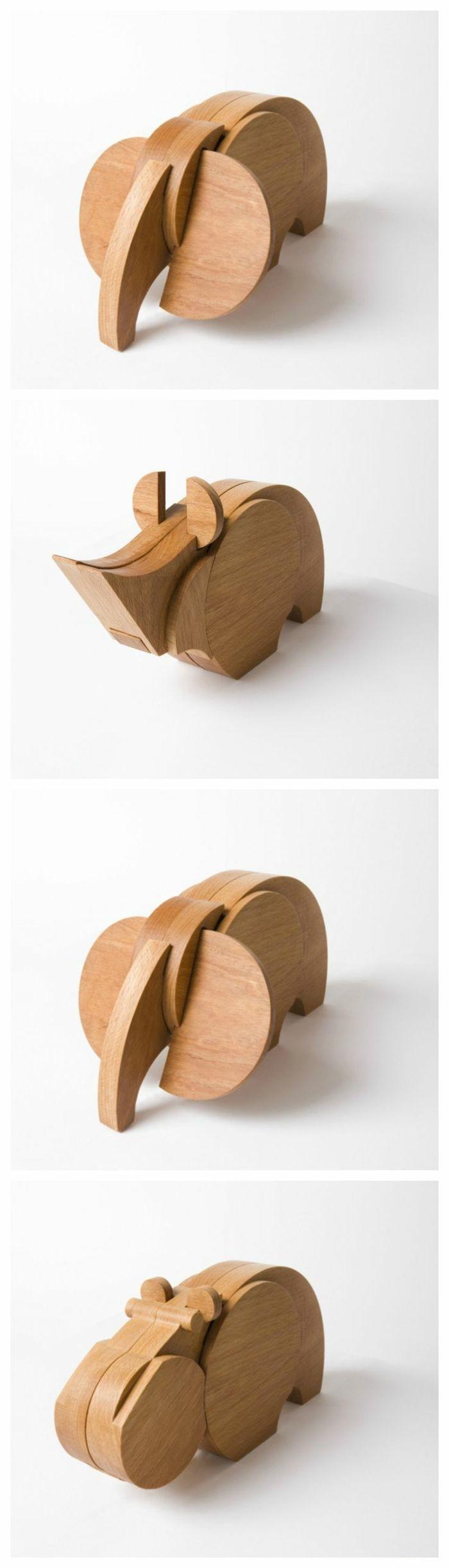 jouets en bois, animal préhistorique                                                                                                                                                                                 Plus