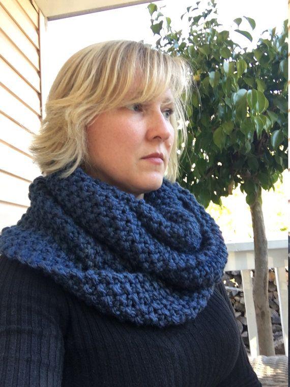 Gezellige oneindigheid sjaal van airplanesandyarn op Etsy