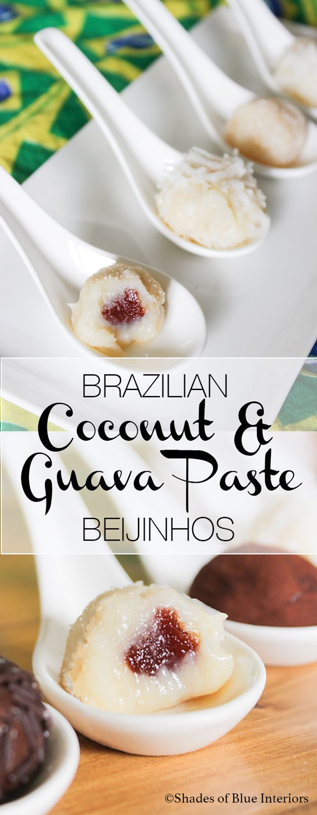 Brazilian Coconut and Guava Paste Beijinhos