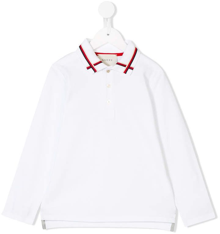 c8f023c201a Gucci Kids web detail polo shirt  children  Gucci  kids  ShopStyle   MyShopStyle