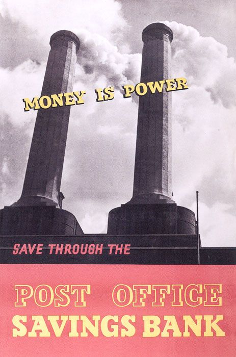 £1 - free delivery with code PINPOSTER   From the 1930s the Post Office commissioned Britain's leading artists and designers to create posters publicising postal services. This card features a poster encouraging the public to save through the Post Office Savings Bank, c.1940.