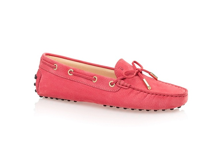 Tod's - Gommino Leather Moccasin Loafers With Front Tie - Light Camellia Pink