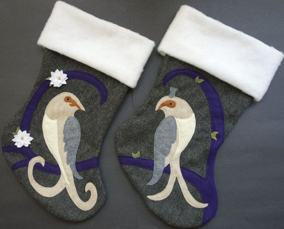 His and Hers Christmas Stockings Set of Two by HeartfeltStockings $160 etsy