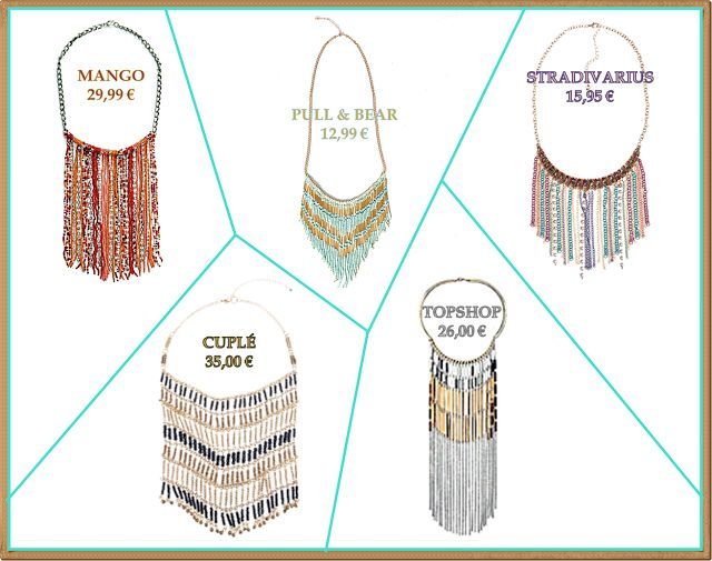 TENDENCIA PRIMAVERA-VERANO 2013 (3): Tutorial Collar de flecos (Fringe necklace of beads)