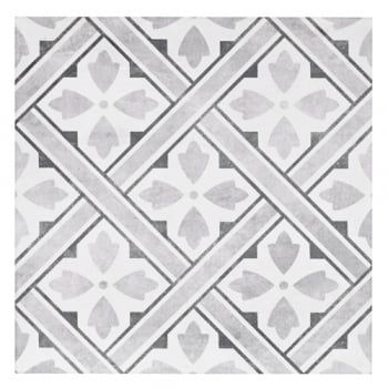 Laura Ashley Mr Jones Charcoal 33cm x 33cm Floor Tile
