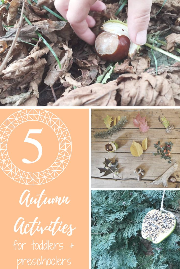 5 Activities to get your kids outside this Autumn. Outdoor scavenger hunts and crafts for toddlers and preschoolers.