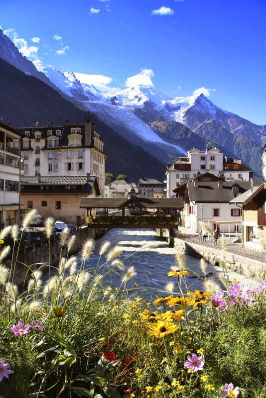 #French #Ski #Resorts - Chamonix, France: In my heart I live in a mountain chateau on a river. http://www.thefrenchpropertyplace.com