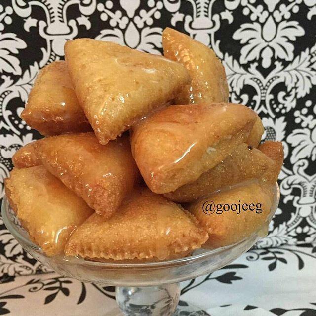 طريقة تحضير مثلثات السميد Semolina Triangles Food Arabic Sweets Cheese