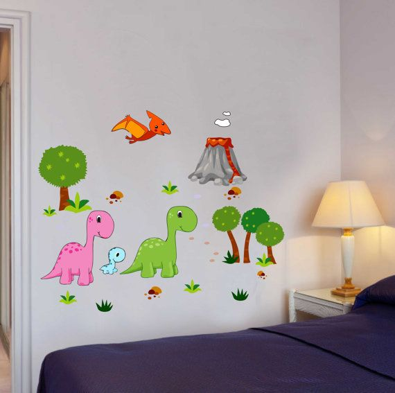 Best Full Color Decals Images On Pinterest Vinyl Fabric - Dinosaur wall decals nursery