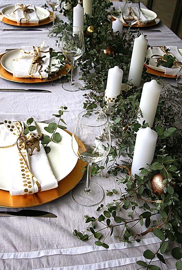 33 Inspirierende Weihnachtsdekorideen, um Ihren Esstisch zu erhöhen