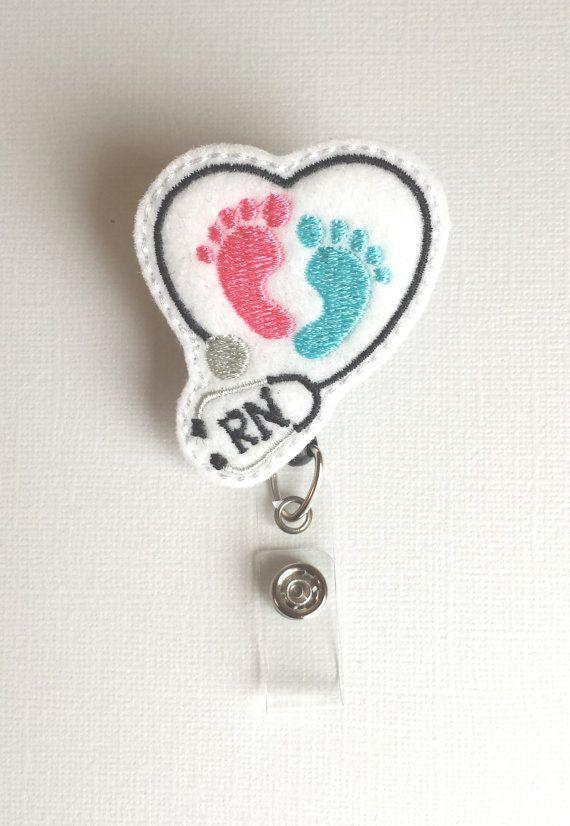 Pediatric Stethoscope Felt Badge Reel by SimplyReelDesigns, $6.25