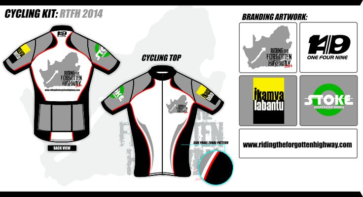 Huge thanks to Russell Woolmer for designing out first RTFH cycling jersey.