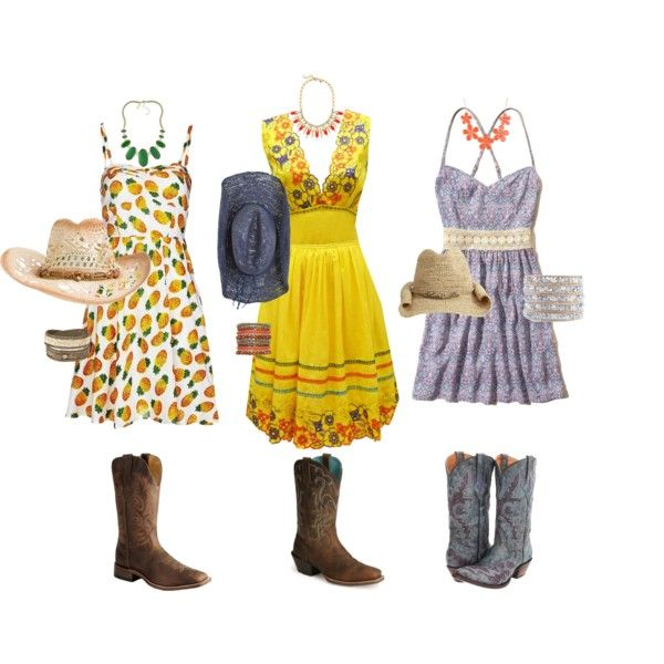 """""""Cowgirl Summer Style"""" by michi-knight on Polyvore"""