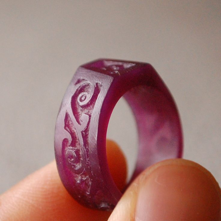 Bluetuque lost wax casting floral ring carving