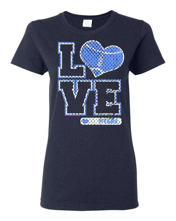 Love Titans Football Heart custom t shirt Free Shipping