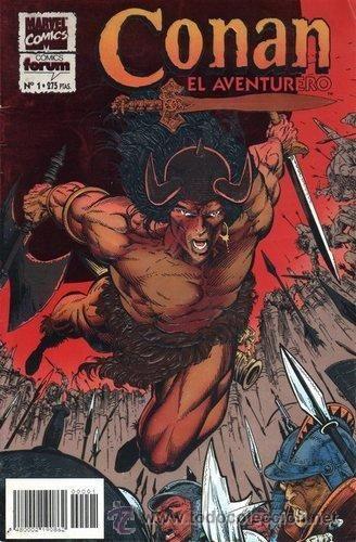 CONAN EL AVENTURERO. PLANETA-DEAGOSTINI, 1994. COMPLETA 14 Nº. Cuadernos de historietas de 24 páginas interiores mas cubiertas en color. Tebeos en los que se tradujeron los comic-books de la colección Conan the Adventurer publicada por Marvel Comics. Reparto de autorías en el dibujo: RAFAEL KAYANAN (1-5, 9-14) JOHN WATKISS (6-8). 30,00 €