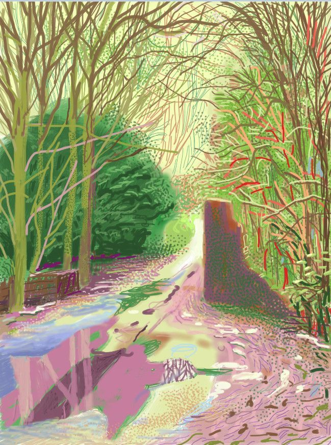 Stunning English Landscape Paintings by David Hockney...Made With an iPad (Photos) : TreeHugger