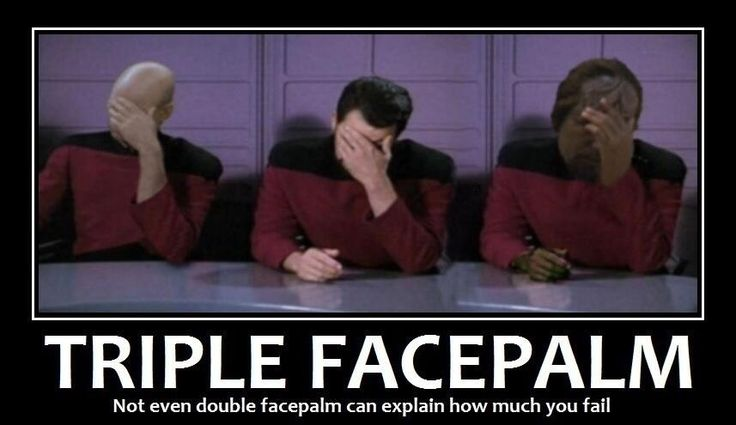 Star Trek facepalm