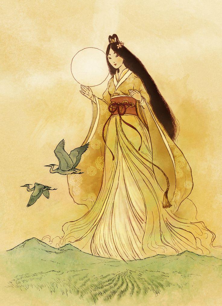 Amaterasu - Shinto Goddess by Mikadze.deviantart.com on @deviantART