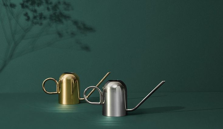 Available in both silver and gold finishes, these modern watering cans add a metallic touch to your interior and will help keep your plants thriving all year long.