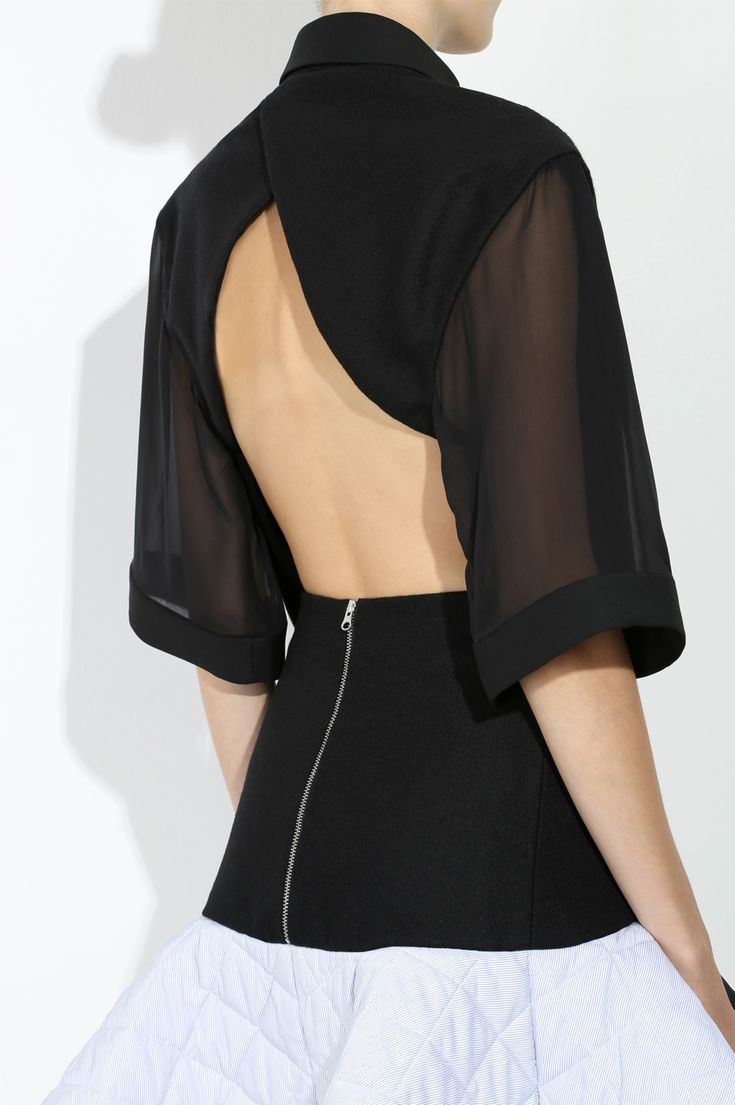 Gorgeous black silk chiffon shirt by ethical fashion company Honest by