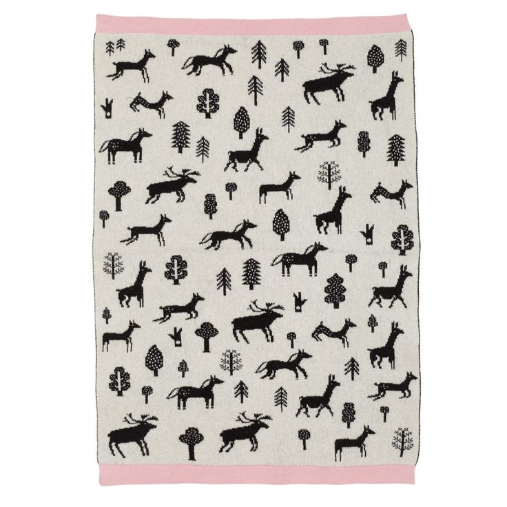 Gallop Mini Blanket - Black/White - Donna Wilson