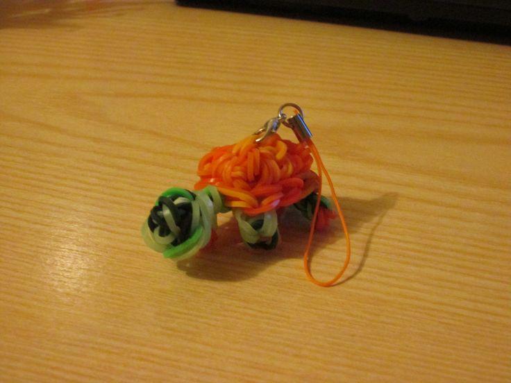 Tartaruga fatta con gli elastici