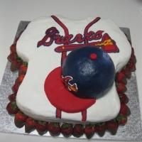 Atlanta Braves grooms cakeBrave Grooms, Brave Cake, Grooms Cake, Amazing Cake, Groom Cake, Husband Birthday, Theme Cake, Birthday Cake, Atlanta Braves