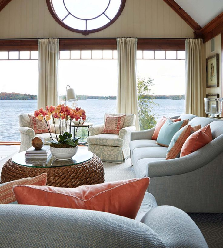 a delightful muskoka lake house with a soothing ambiance With delightful couleur pour salon moderne 13 maison contemporaine dompierre sur mer
