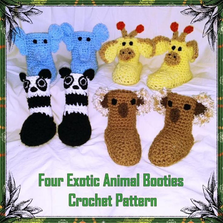 8 besten Crocheted Baby Booties Bilder auf Pinterest | Häkeln ...