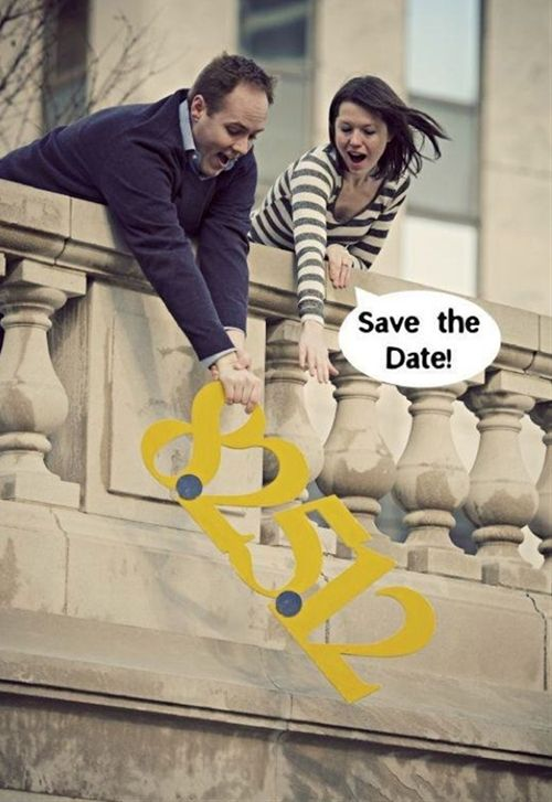 Unique Save the Date Photo Idea - Click image to find more weddings posts