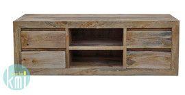 """Szafka z kolekcji """"Mango"""" zachwyca przede wszystkim prostotą i funkcjonalnością. Jej ponadczasowy kształt odnajdzie się zarówno w surowym lofcie jak i w klasycznym salonie. Jasne drewno naturalnie wpisze się w klimat otoczenia. W czterech szufladkach poukładasz drobne przedmioty a pojemne półki pomieszczą dużo sprzętu rtv. http://bit.ly/1y2V76C"""