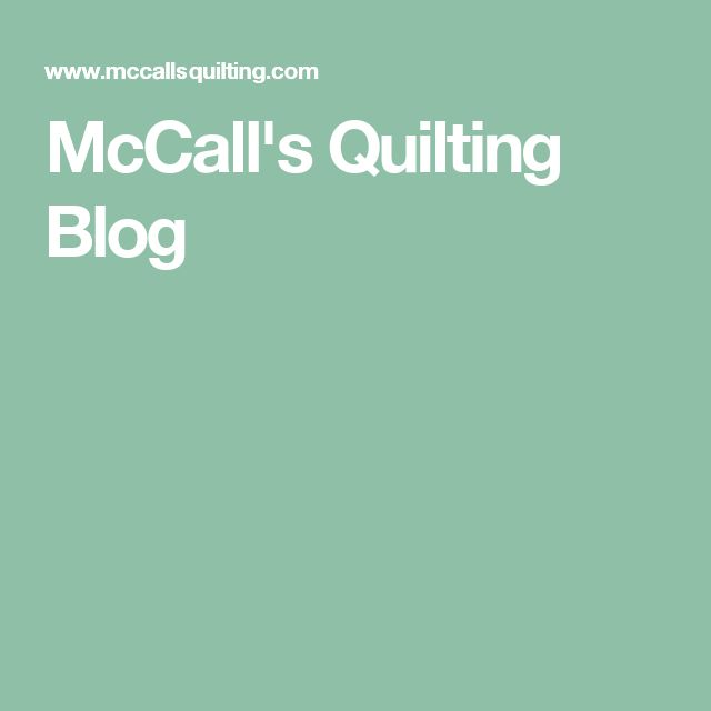 McCall's Quilting Blog