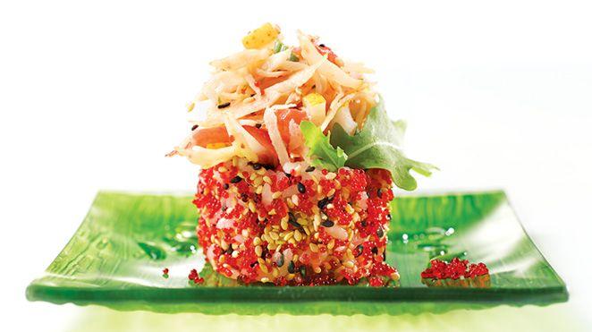 Maki californien au crabe et au fromage de chèvre