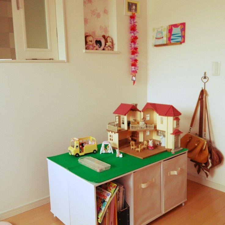 部屋別に見る、カラーボックスで収納場所を作るアイディア   RoomClip ... 大型オモチャのステージにする