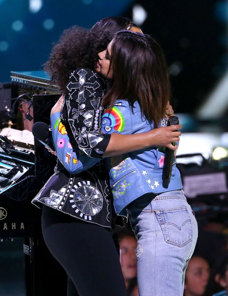 April 27: Selena and Alicia Keys onstage at We Day California in Inglewood, California [HQs]