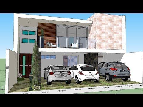 Como diseñar mi casa en un lote de 7x15 mts. - YouTube