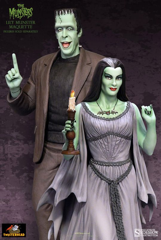lily munster statue | Lily Munster Maquette with Herman Munster Maquette