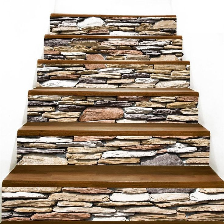 Stones Wall Pattern Stair Stickers Stair stickers