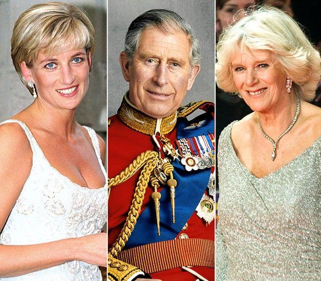 Prince Charles, the Late Princess Diana, and Camilla Parker Bowles