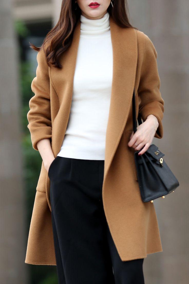 I need this camel mid length coat....
