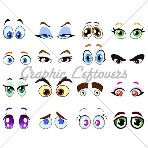 how to draw cartoon eyes on pottery - Google Search