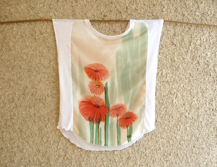 Blouse original handpainted on silk