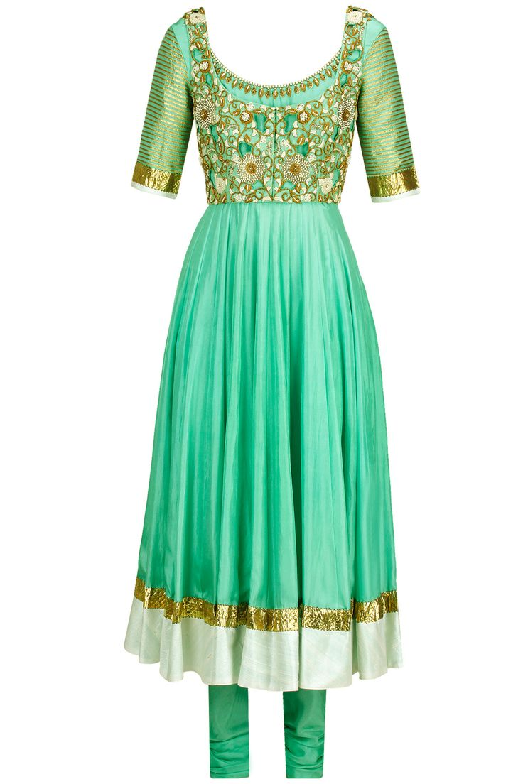 Insanely beautiful mint green embroidered anarkali set from @PerniaPopUp - I WANT THIS SO BAD!