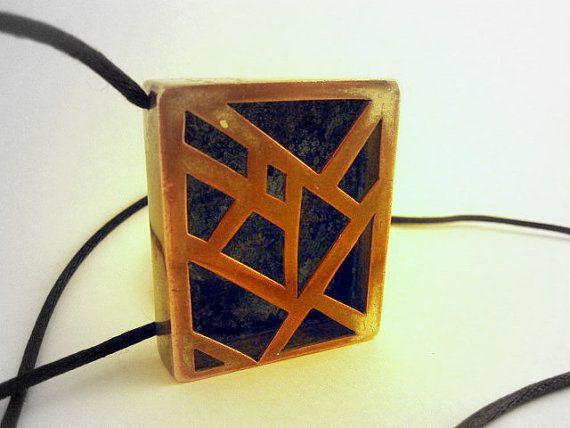 Architectural style handmade pendant. A piece by Laconquistadora, $65.00