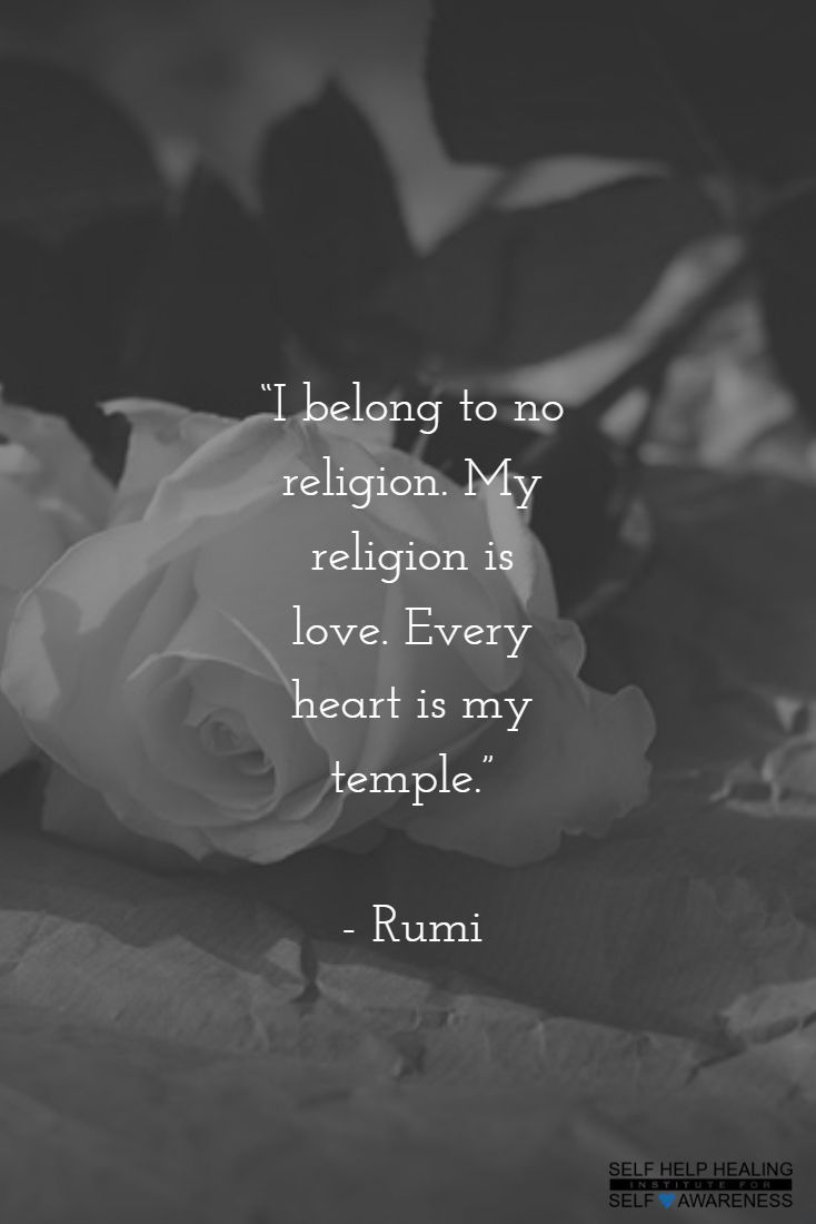 #Quotes by #Rumi - Know the difference between religion and spirituality. For both are not the same. - from http://www.selfhelphealing.co.uk