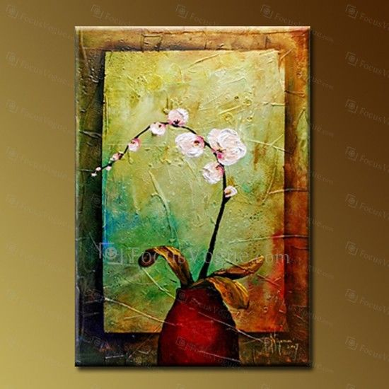 """Flower Hand-painted Oil Painting with Stretched Frame-16"""" x 24"""" - Focus Vogue"""